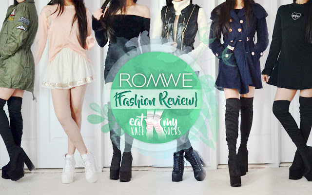 Romwe Fashion Review   br Autumn Coats  LBDs   More    Eat My Knee Socks Romwe Fashion Review  Autumn Coats  LBDs   More