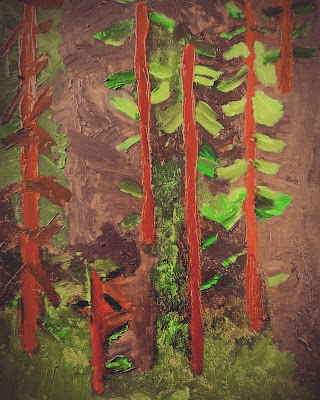 Forest Oil Painting