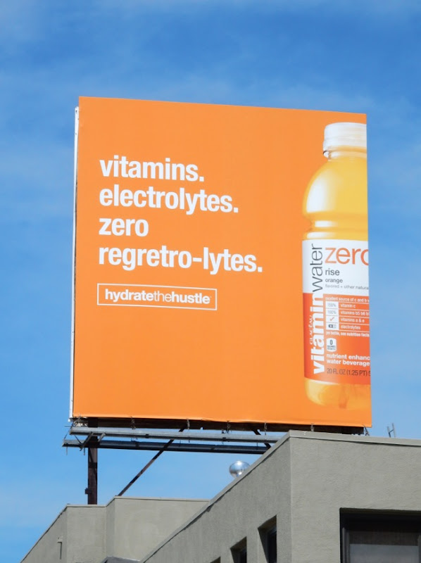 Zero regreto-lytes Vitamin Water billboard