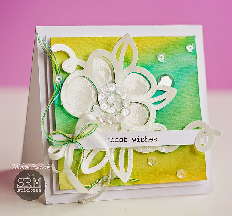 SRM Stickers Blog - Floral Bouquet Cards by Michele - #cards #17turtles #digifiles #doilies #stickers #clearsentiments