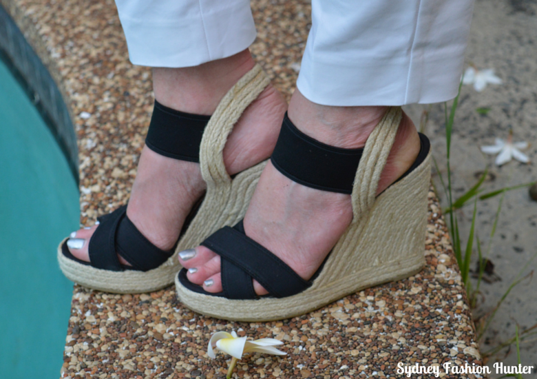 Sydney Fashion Hunter OOTD - Black Espadrille Wedges