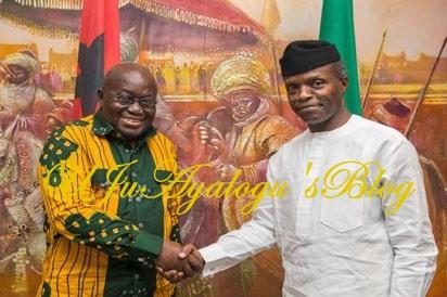 Osinbajo Receives Ghanaian President