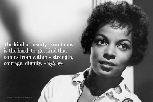 Black History month Ruby Dee quote