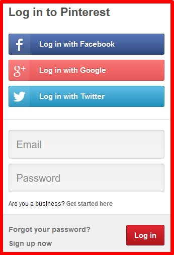 Pinterest Login With Facebook Problems