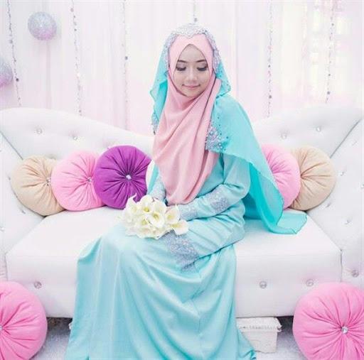 model desain hijab pengantin syar i terbaru