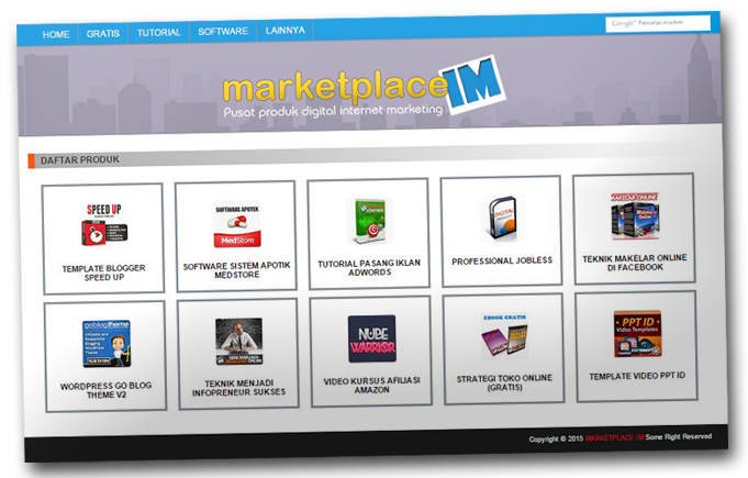 Download Template Marketpalace Khusus Pemain Affiliate