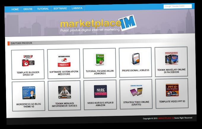 Tampilan Template Marketpalace Khusus Pemain Affiliate