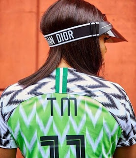 Toke Makinwa Rocking The Super Eagles Jersey
