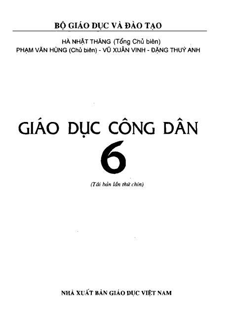 Trang 2 sach Sách Giáo Khoa Giáo Dục Công Dân Lớp 6