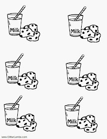 Glitter Lambs: Cookie Monster Food Label Cards And Free