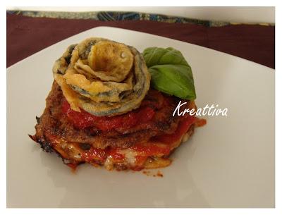 ricetta fiore di parmigiana