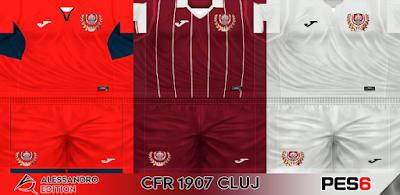 PES 6 Kits CFR Cluj Season 2017/2018 by Alessandro Edition