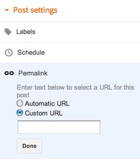 Custom Permalink - Tips SEO Posting Blog