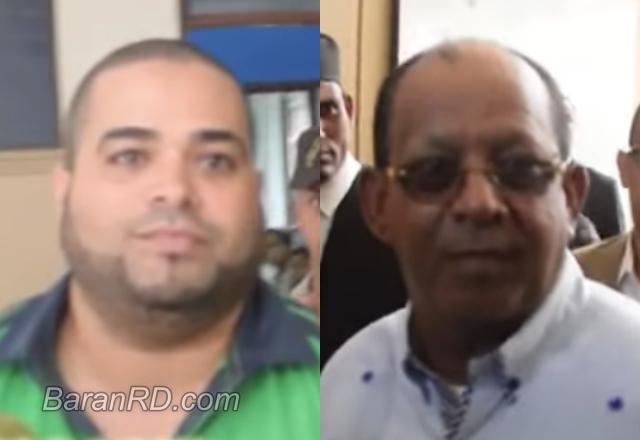 El chofer Jesús Manuel Cáceres y el coronel Eusebio Escolástico