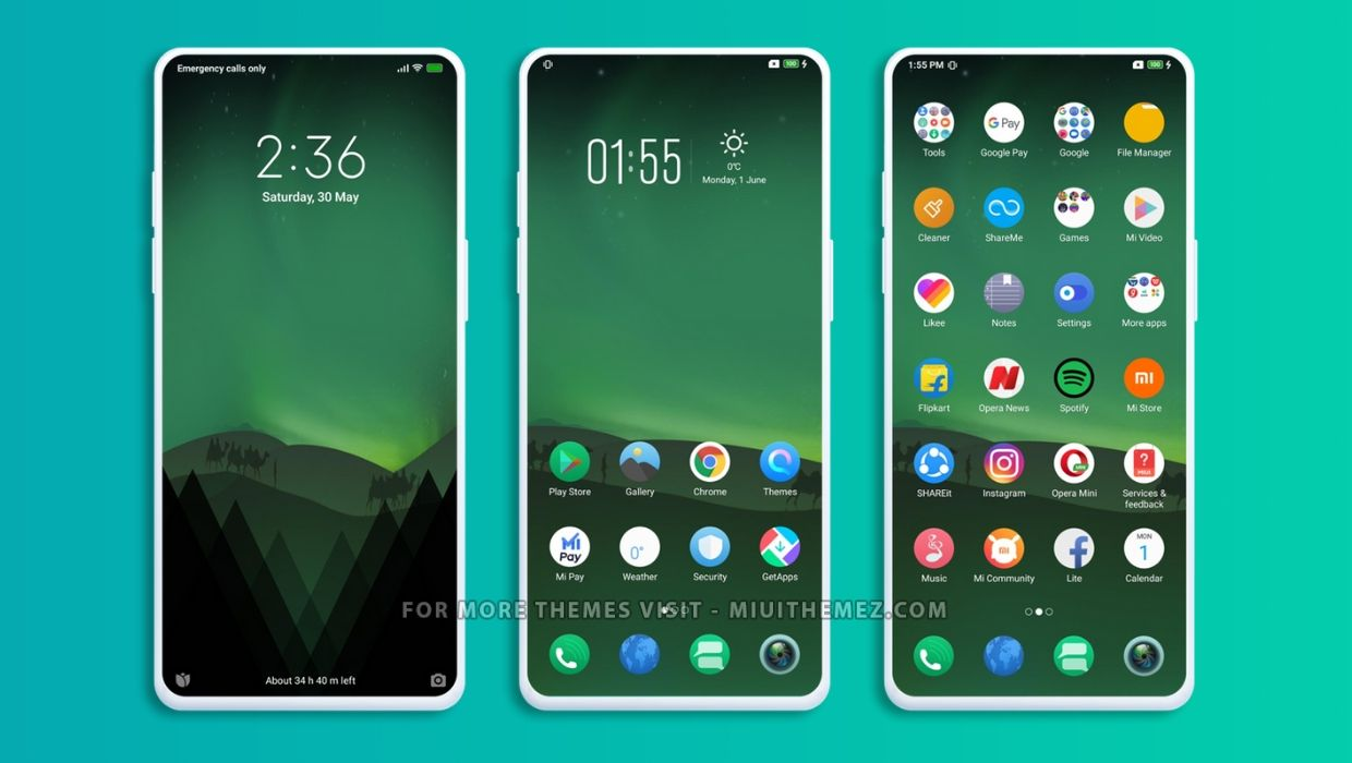 Green Aurora MIUI Theme