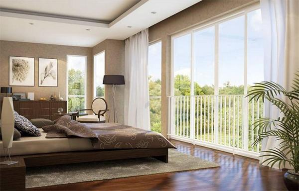 Phòng không sử dụng điều hoà nhiệt độ và mở ra hướng mát nên làm cao và mở cửa rộng