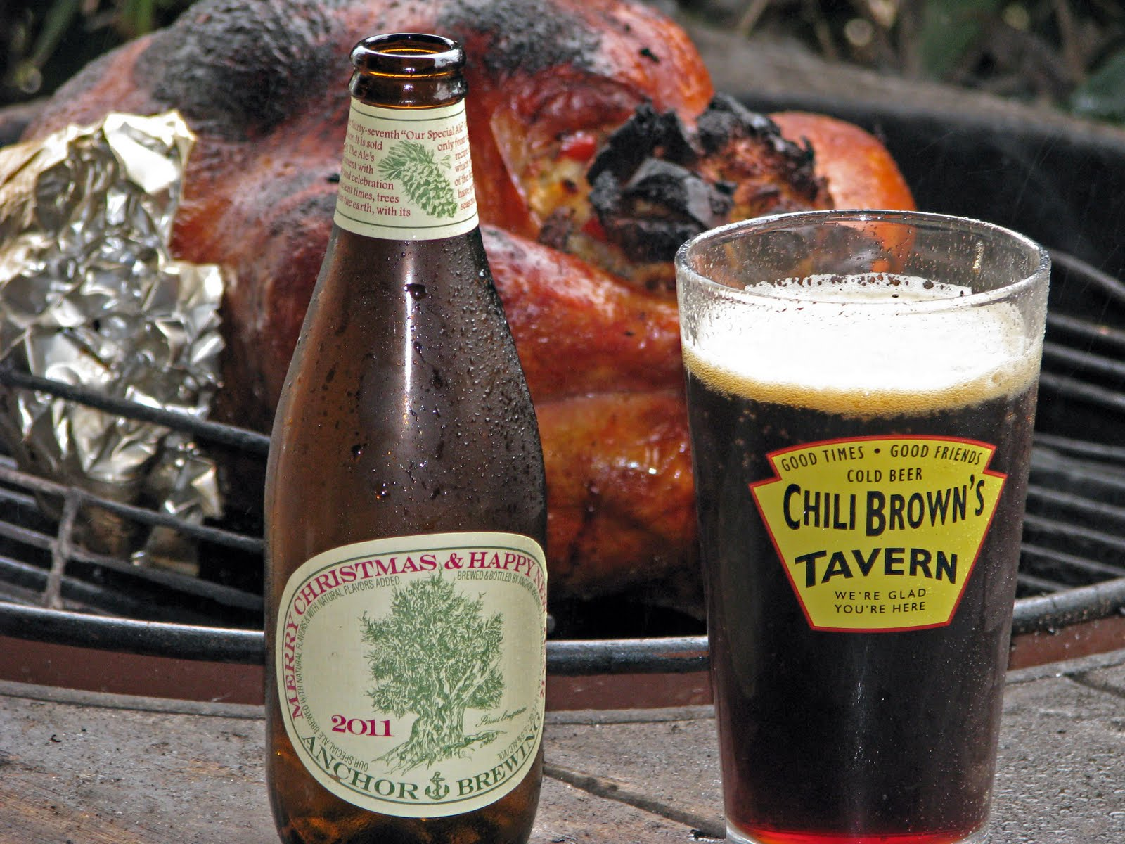 Anchor Steam Christmas Ale.Mad Meat Genius Anchor Christmas Ale