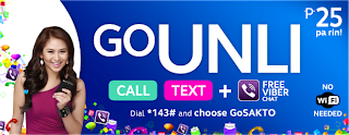GOUNLI25 - Unlimited Call to Globe/TM and Text to All Networks Promo