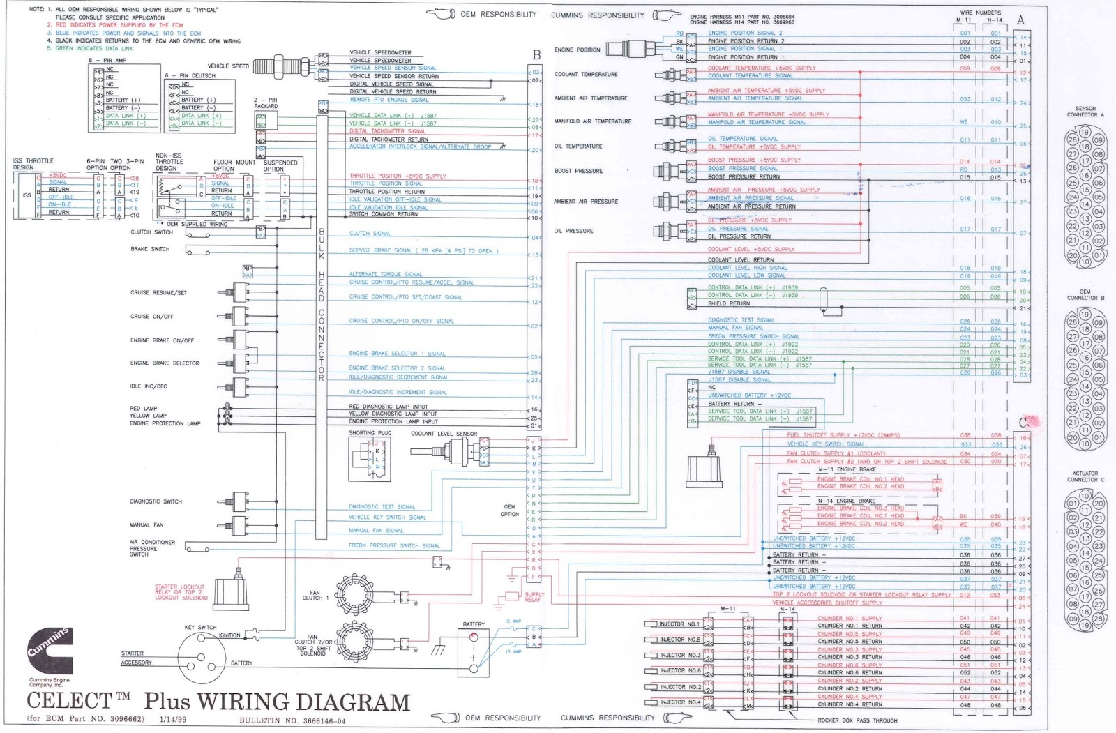 Cummins Celect Plus Wiring Diagram N14: N14 Celect Plus Wiring Diagram. N14  Cummins Celect