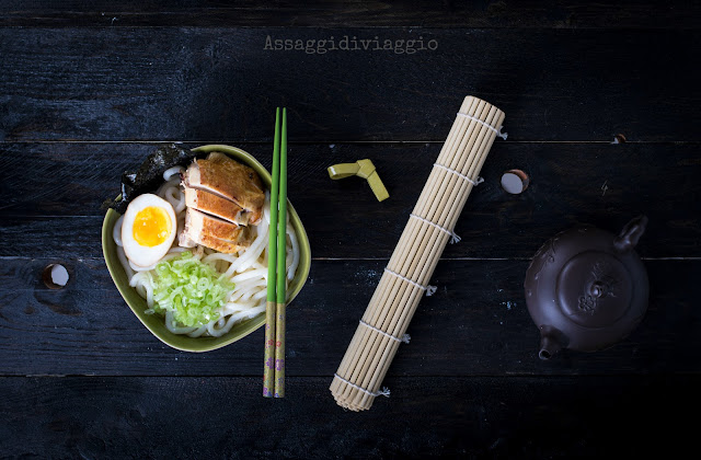 Udon ramen al pollo