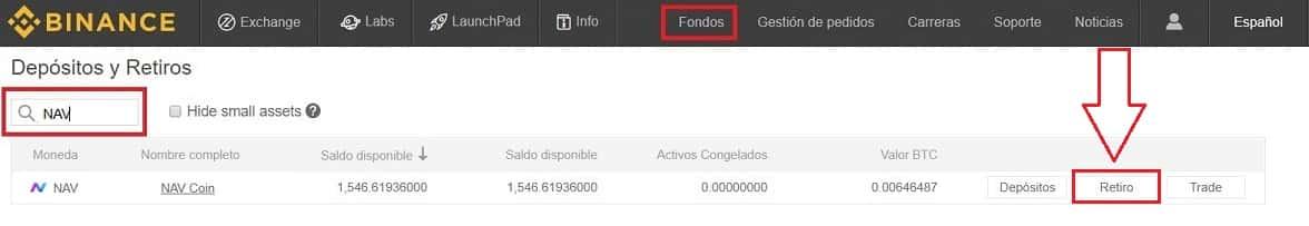 Cómo Enviar NAV COIN Wallet Monedero desde Binance y Coinbase