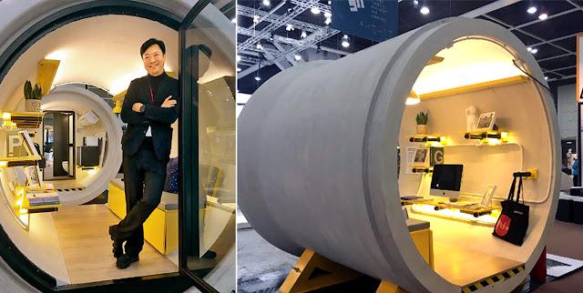 香港建築設計師提出水管屋 (concrete pipe house) 改善房價過高的居住問題1