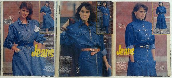 O jeans nos anos 80