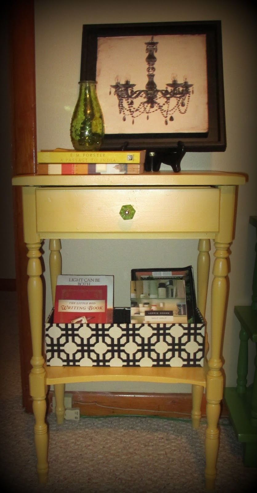 My Bedside Table: My Indigo Cottage: Repurposed Bedside Table