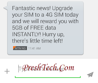 MTN 4G 0.0k Browsing: Change Your SIM and Get Free 5GB From MTN