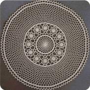 Tapete corona de flores a Crochet
