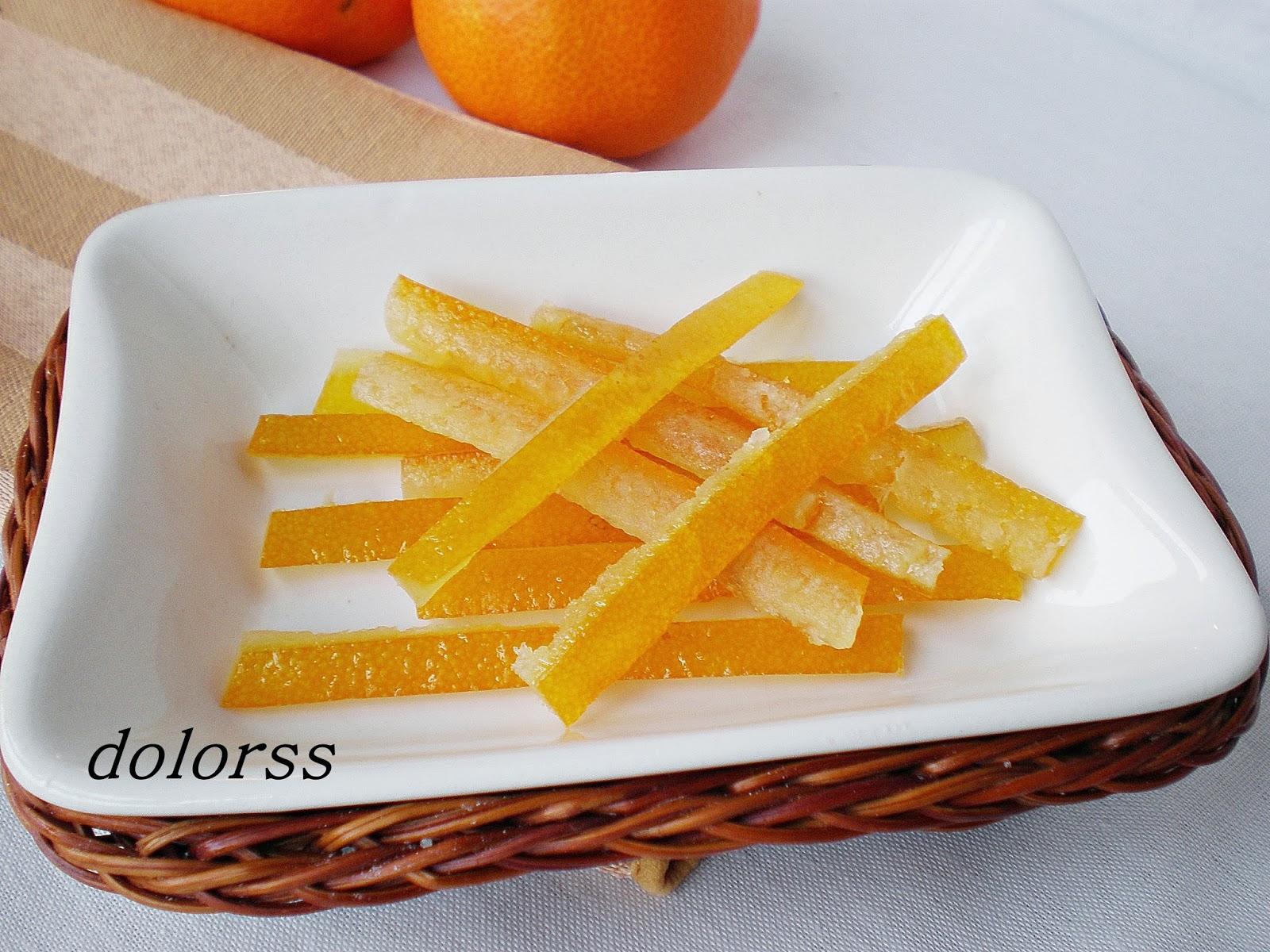 Blog De Cuina De La Dolorss Piel De Naranja Confitada