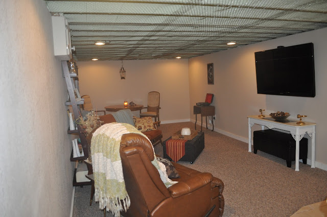 second house, basement, decor, diy, furniture, reno, colders, sectional, couch, basement design, grey furniture