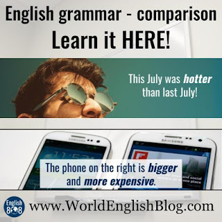 Learn English grammar - comparison