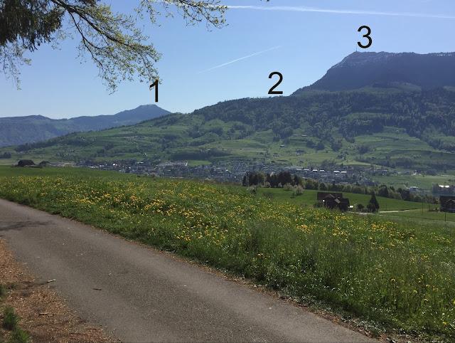 Aussicht auf den Rossberg und die Rigi