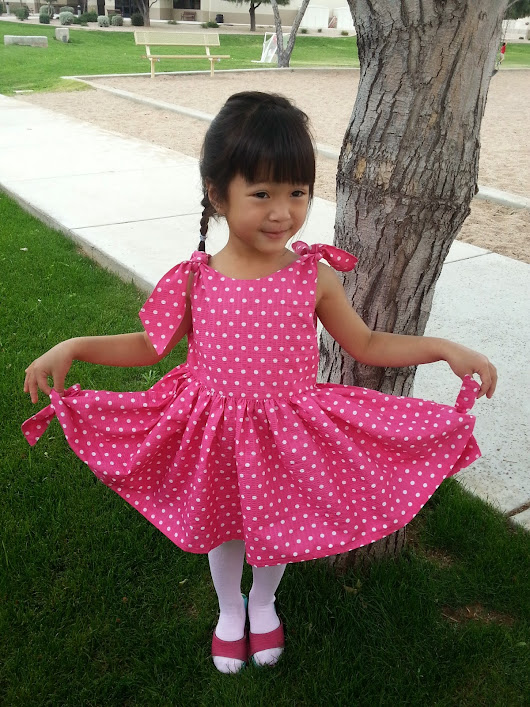 Project run and play march sew along dress. the knot dress.