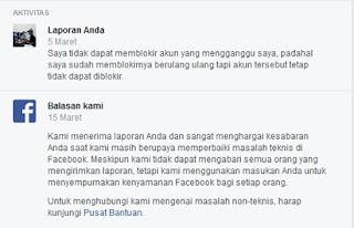tanggapan dari facebook setelah pengaduanmasalah dikirim