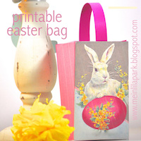 printable vintage easter bag
