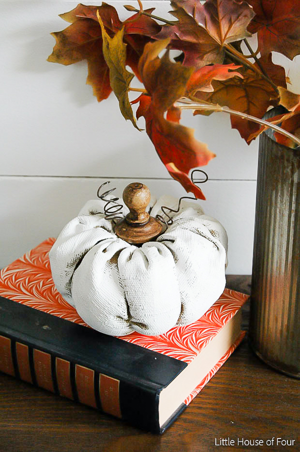 Rustic painted fabric pumpkins