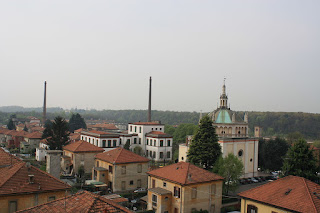 Crespi d'Adda had houses for the workers, a school, a church and a hospital in addition to a large factory