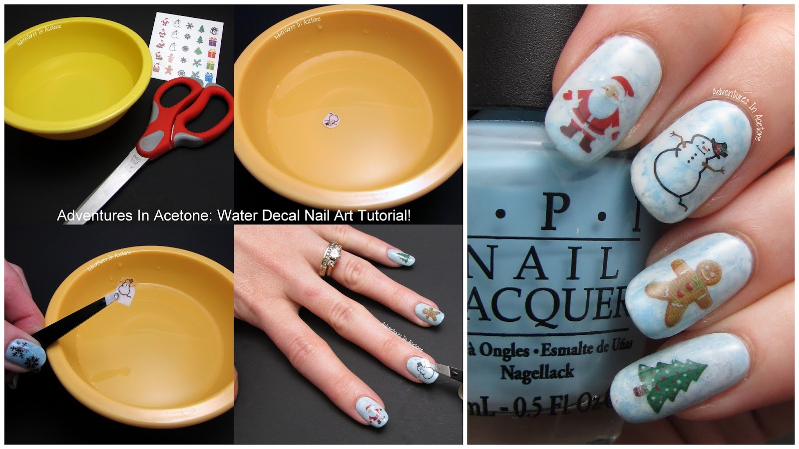 Water Nail Art: Tutorial Tuesday: Christmas Water Decals!