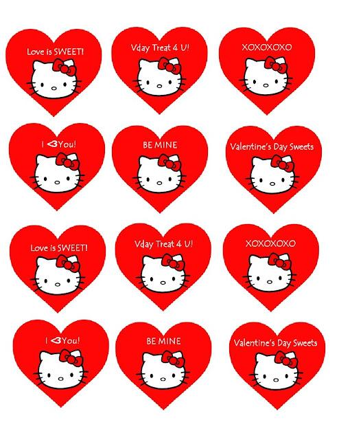 gratis moños de Hello Kitty para imprimir