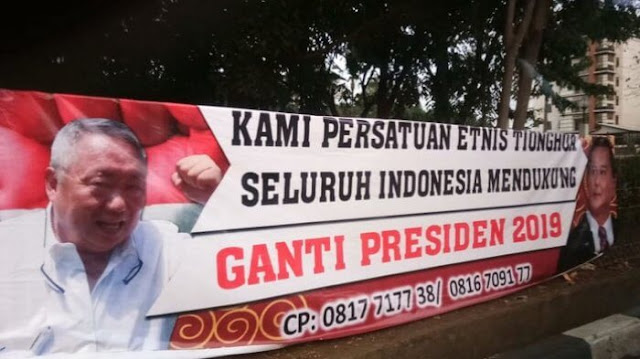 Contoh Spanduk Ganti Presiden