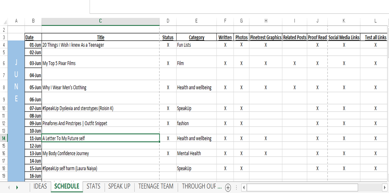 How To Use Spreadsheets To Organise Your Blog Simple quick effective UK bloggers
