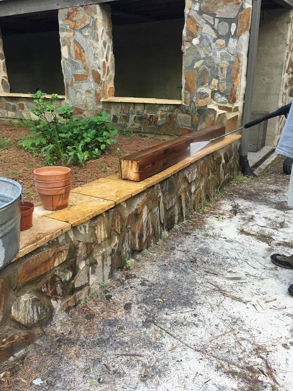 antique-reclaimed-beam-mantel-pressure-washing-cleaning