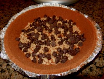Chocolate Toffee Chip Pumpkin Pie