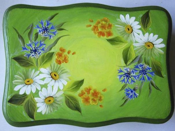 Margaritas De Colores En La Hierba 30995: Detodomanualidades: Como Pintar Una Caja Con Flores