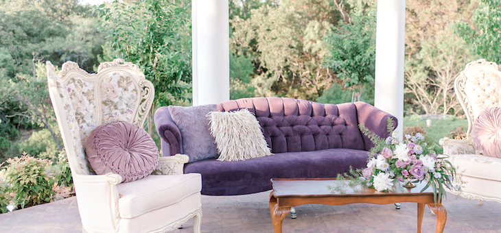 Featuring Pantone s Ultra Violet in a Sweet Southern Setting