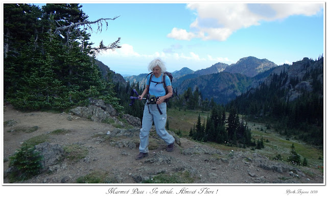 Marmot Pass: In stride. Almost There!