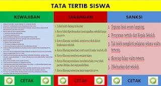 Aplikasi Cetak Tata Tertib Siswa Plus Grafik Ms Excel