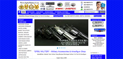 Spbumiliter.com Toko Aksesoris Militer Terpercaya